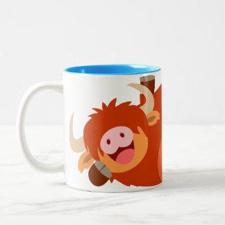Cute  Lazy Cartoon Highland Cow Mug
