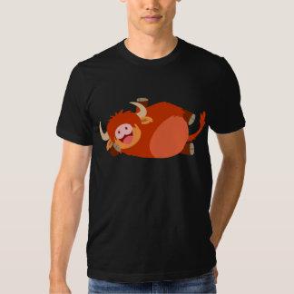 Cute  Lazy Cartoon Highland Cow T-Shirt