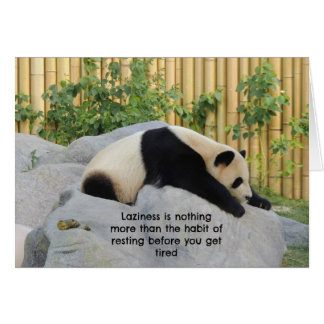 Cute Lazy Day Panda Greeting Cards