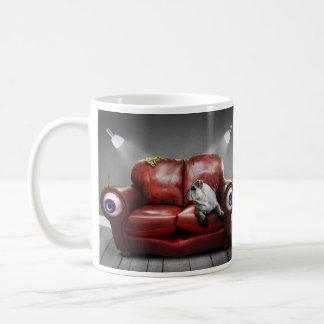 Cute Lazy dog on sofa Coffee Mug