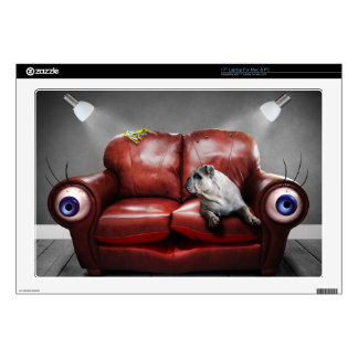 Cute Lazy dog on sofa Skin For Laptop