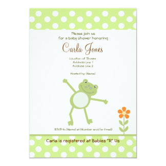 Cute Leapfrog Baby Shower Invitations 5 x 7 size
