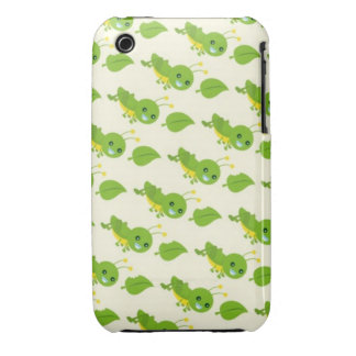 cute leaves and silly grasshoppers pattern iPhone 3 case