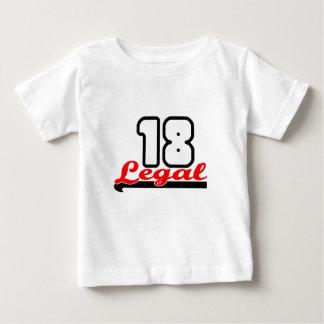 """Cute, """"Legal 18"""" design T Shirt"""