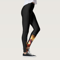 Cute leggings with designs under your knee!