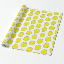 Cute Lemo Pattern Wrapping Paper