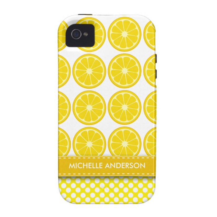 Cute Lemon Case-Mate iPhone 4 Case