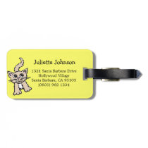 Cute lemon graphic cat custom luggage tag