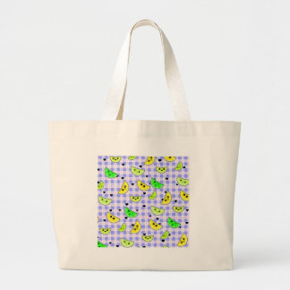 cute lemon lime design for teen girls large tote bag
