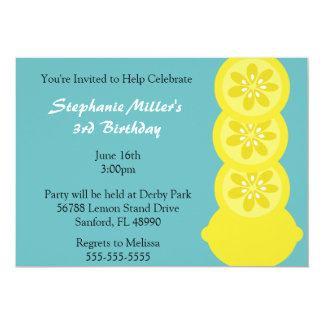 Cute Lemon Slice Summer Party Invitation