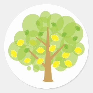 Cute Lemon Tree Classic Round Sticker