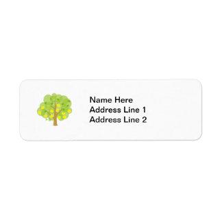 Cute Lemon Tree Return Address Label