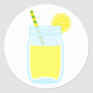 Cute Lemonade Round Sticker
