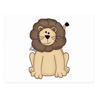 Cute Leo the Lion Big Cat Postcard