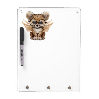Cute Leopard Cub Fairy Wearing Glasses Dry-Erase Board