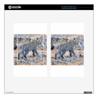 Cute Leopard Cub on the Move Skin For Kindle Fire