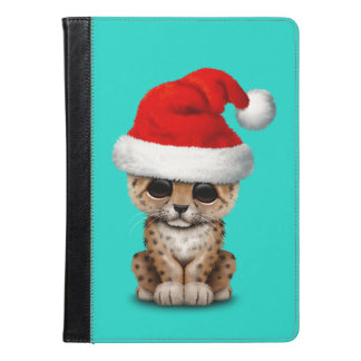 Cute Leopard Cub Wearing a Santa Hat iPad Air Case