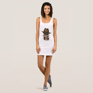 Cute Leopard Cub Zombie Hunter Sleeveless Dress