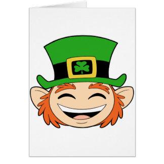 Cute Leprechaun Face Card