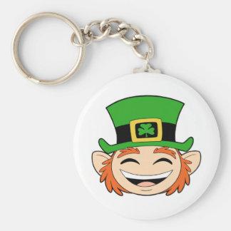 Cute Leprechaun Face Key Chains