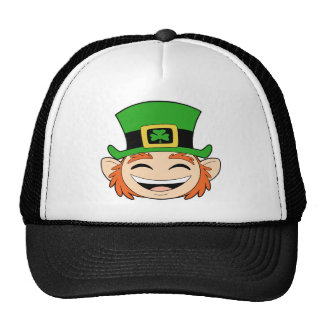 Cute Leprechaun Face Mesh Hats