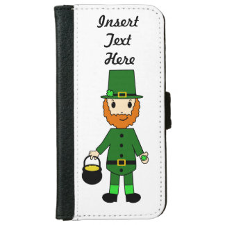 Cute Leprechaun Holiday Wallet Style Case
