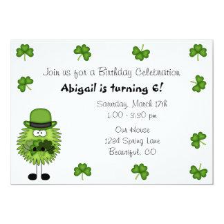 Cute Leprechaun Irish St Patrick's Day Birthday 5x7 Paper Invitation Card