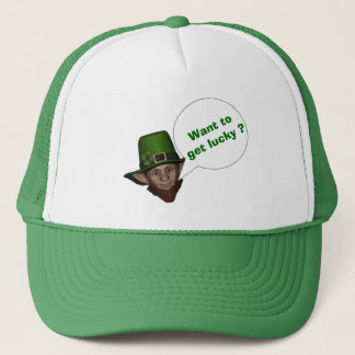 Cute leprechaun St Patrick's day Trucker Hat