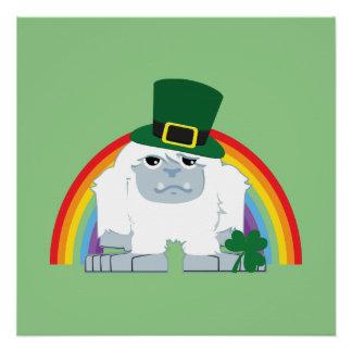 Cute Leprechaun Yeti Poster
