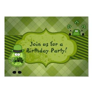 Cute Leprechauns Irish St Patrick's Day Birthday 5x7 Paper Invitation Card