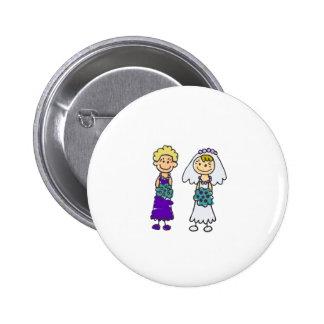 Cute Lesbian Brides Pinback Button