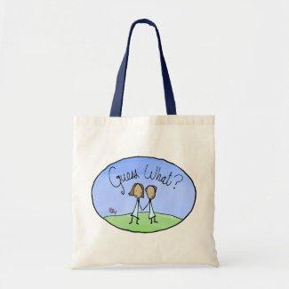 Cute Lesbian Couple Guess What bag