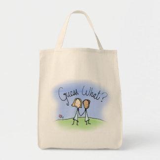Cute Lesbian Couple Guess What Tote Bag