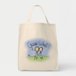 Cute Lesbian Couple Guess What Canvas Bag