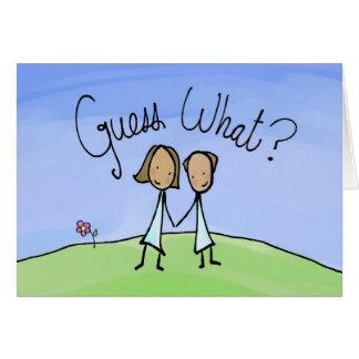 Cute Lesbian Couple Guess What Card