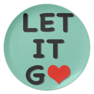 Cute Let It Go present gift Dinner Plates
