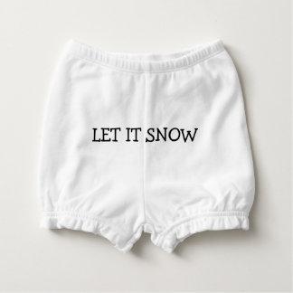 Cute Let It Snow Snowman Butt Diaper Cover