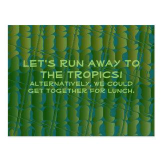 Cute Let's Get Together. Postcard