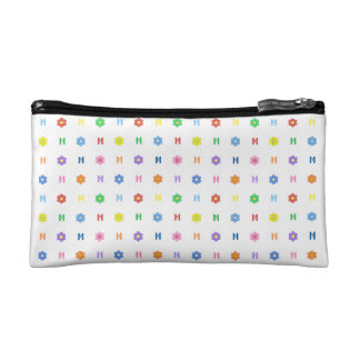 Cute Letter M and Eight Color Flower Cosmetic Bags