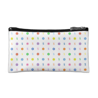 Cute Letter S and Eight Color Flower Bag Cosmetic Bags