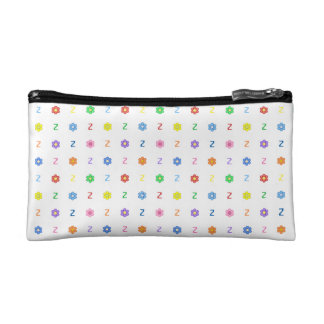 Cute Letter Z and Eight Color Flower Bag Cosmetic Bags
