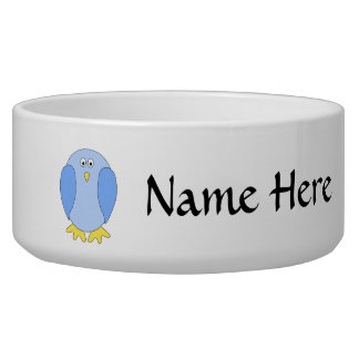 Cute Light Blue Bird Cartoon. Bowl