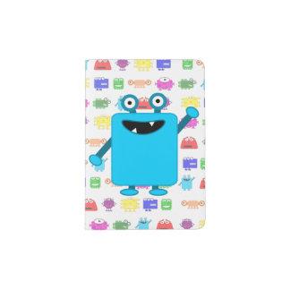 Cute Light Blue Cartoon Monster Passport Holder
