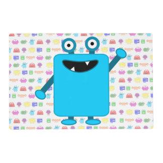 Cute Light Blue Cartoon Monster Placemat