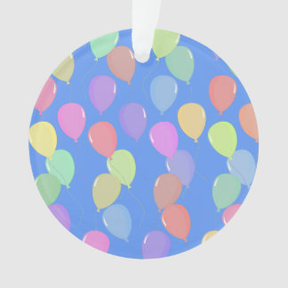 Cute Light Blue Floating Colorful Pastel Balloons