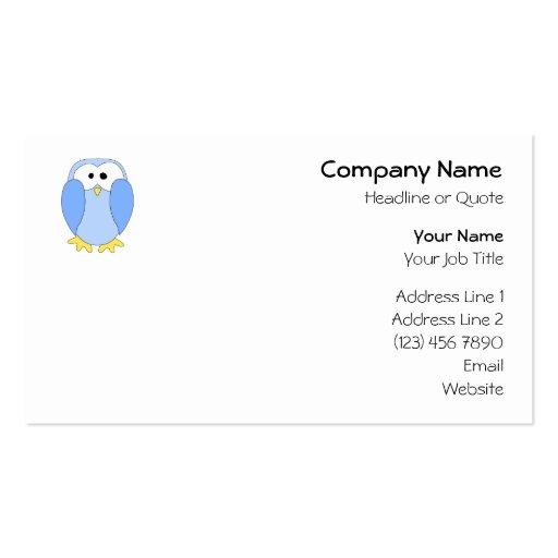 Cute Light Blue Penguin. Penguin Cartoon. Double-Sided Standard Business Cards (Pack Of 100)