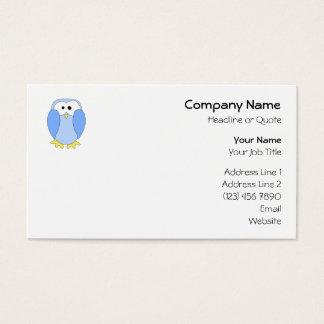 Cute Light Blue Penguin. Penguin Cartoon. Business Card