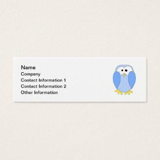 Cute Light Blue Penguin. Penguin Cartoon. Mini Business Card