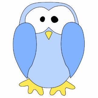 Cute Light Blue Penguin. Penguin Cartoon. Statuette