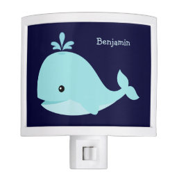 Cute Light Blue Whale Personalized